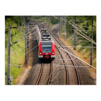 Red train postcard