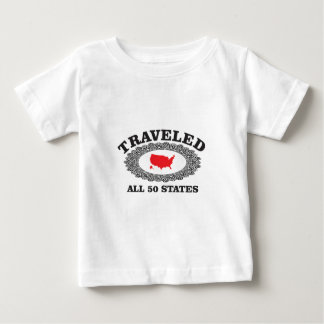 red traveled all states baby T-Shirt