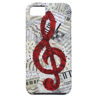 Red Treble Clef iphone 5 vibe iPhone 5 Cover