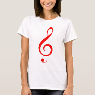 Red Treble Clef T-Shirt