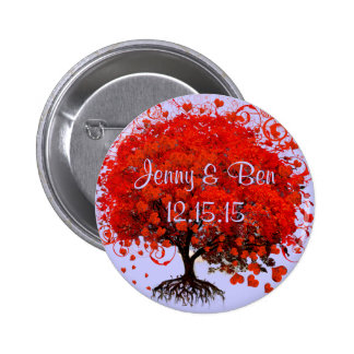 Red Tree Wedding T-Shirts, Gifts, Stickers & Favor 6 Cm Round Badge