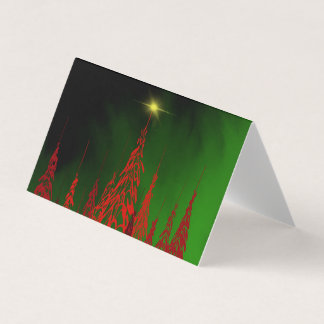 Red Trees Christmas Card - Tent Fold Folded Card