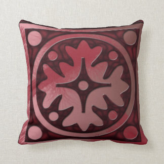 Red Trendy Design Throw Pillow