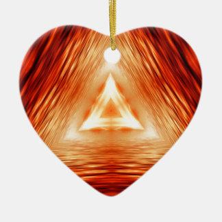 Red Triangle Pattern Ceramic Ornament