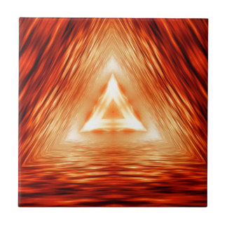Red Triangle Pattern Ceramic Tile