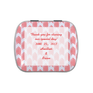 Red Tribal Arrows Wedding Candy Tin