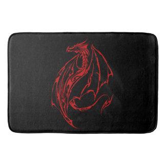 Red Tribal Dragon Bath Mat