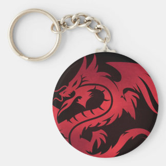 Red Tribal Dragon Keychain