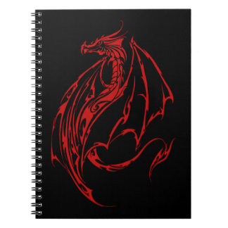 Red Tribal Dragon Notebook
