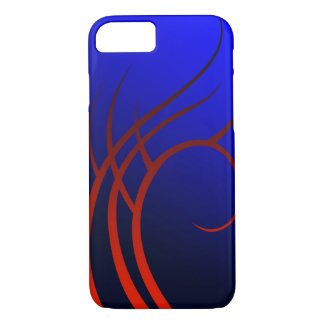 Red Tribal on Blue Custom Phone Case