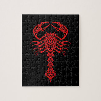 Red Tribal Scorpion Jigsaw Puzzle