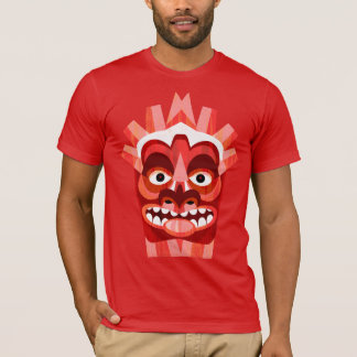 Red Tribal Tiki Beachcomber T-Shirt