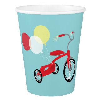 Red Tricycle Graphic Paper Cup