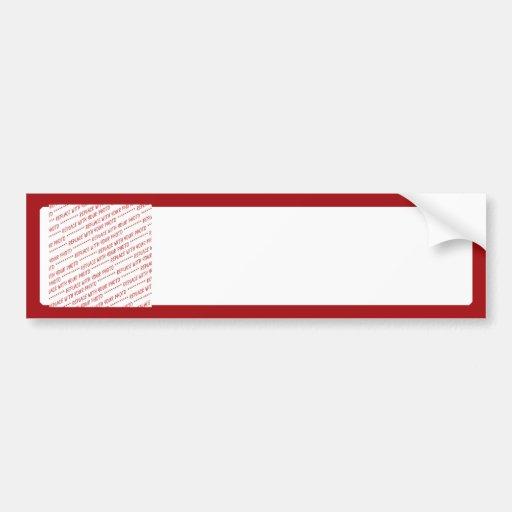 Red Trimmed Template - Add a Photo Bumper Sticker