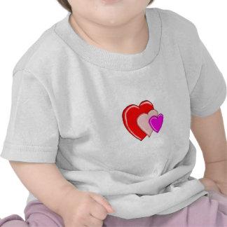 Red Triple Heart Infant T-Shirt