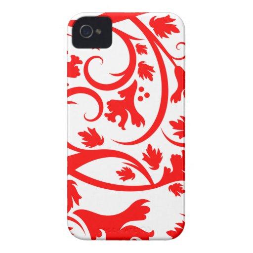 Red tropical flourish swirls cute blackberry bold blackberry bold cases