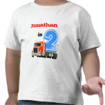 Red Truck 2nd Birthday T Shirts
