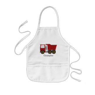 Red Truck Just Add Name Kids Apron