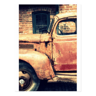Red Truck Wreck Post Card