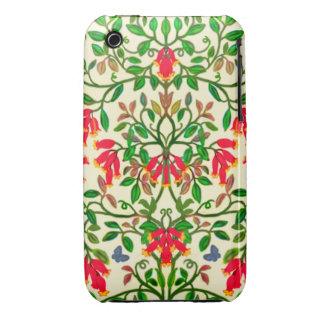 Red Trumpet Floral Vines iPhone 3 Cases