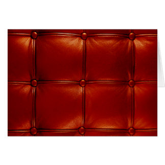 Red Tufted Leather Greeting Card