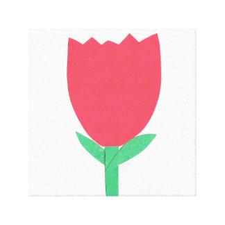 Red Tulip Art Canvas Print