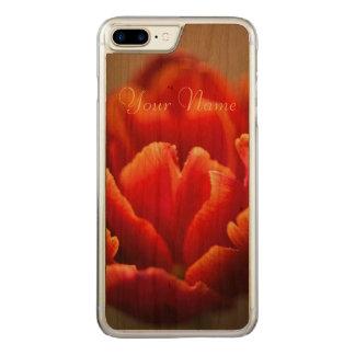 Red tulip carved iPhone 8 plus/7 plus case