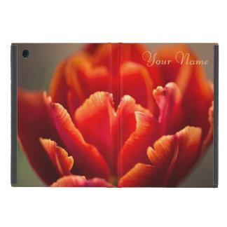 Red tulip cover for iPad mini