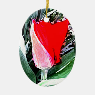 Red Tulip Christmas Ornaments