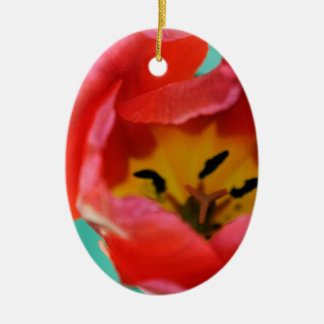 Red Tulip Christmas Ornament