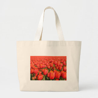 Red Tulip Farm Large Tote Bag