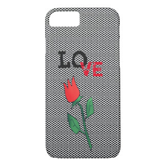 Red Tulip Flower Cartoon Love Romantic Simple Chic iPhone 8/7 Case