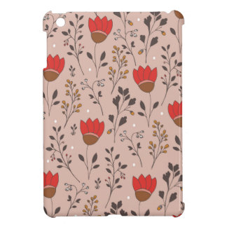Red Tulip Hand Drawn Doodle iPad Mini Cover