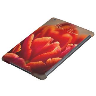 Red tulip iPad air cover