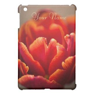 Red tulip iPad mini cover