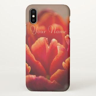 Red tulip iPhone x case