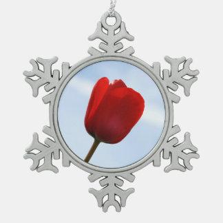 Red Tulip Ornament