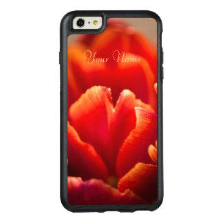 Red tulip OtterBox iPhone 6/6s plus case