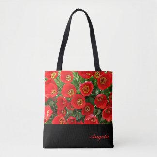 Red Tulip Personalised Tote Bag