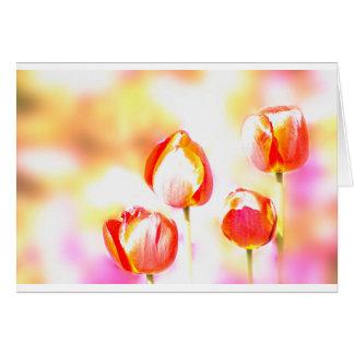 Red Tulip Quartet Card