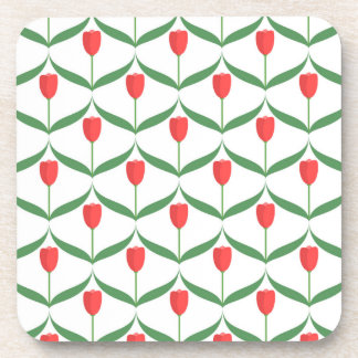Red Tulips Coaster