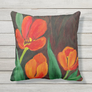 Red Tulips Cushion