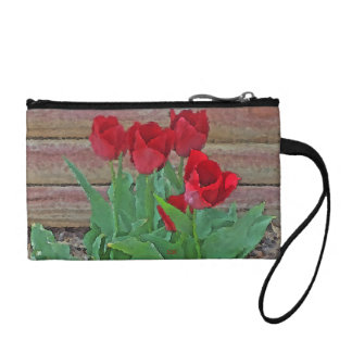 Red Tulips Flowers Petals Bloom in their Prime Change Purses