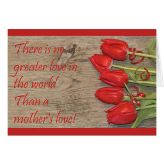 Red Tulips Happy Mother's Day Card