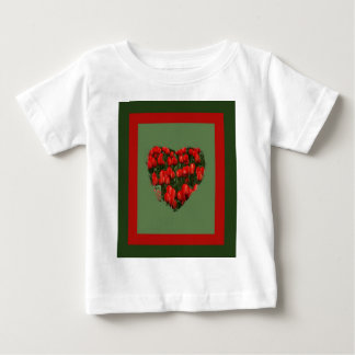 red tulips heart baby T-Shirt