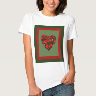 red tulips heart tshirts