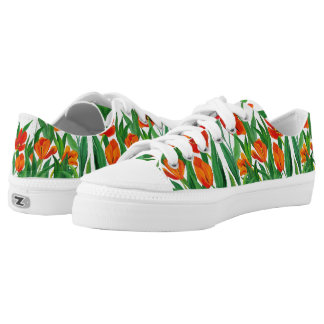 Red Tulips Low Tops