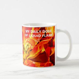 Red Tulips Macro Coffee Mug