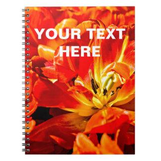 Red Tulips Macro Notebook