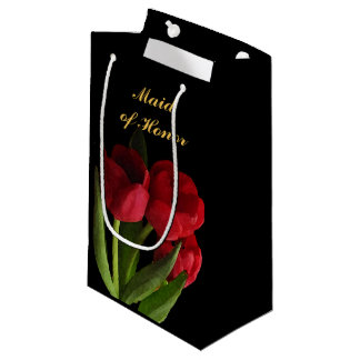 Red Tulips Maid of Honor Small Gift Bag